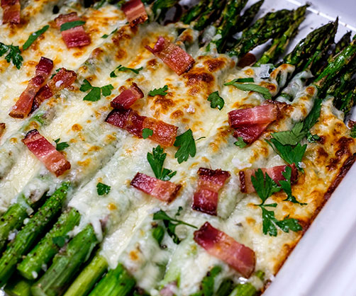 Bacon and Cheese Asparagus