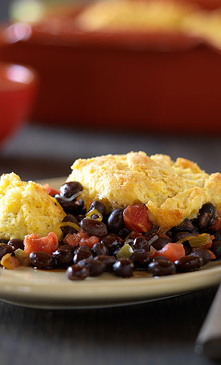 Black Bean and Cornbread Cobbler