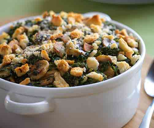 Creamy Spinach and Mushroom Casserole