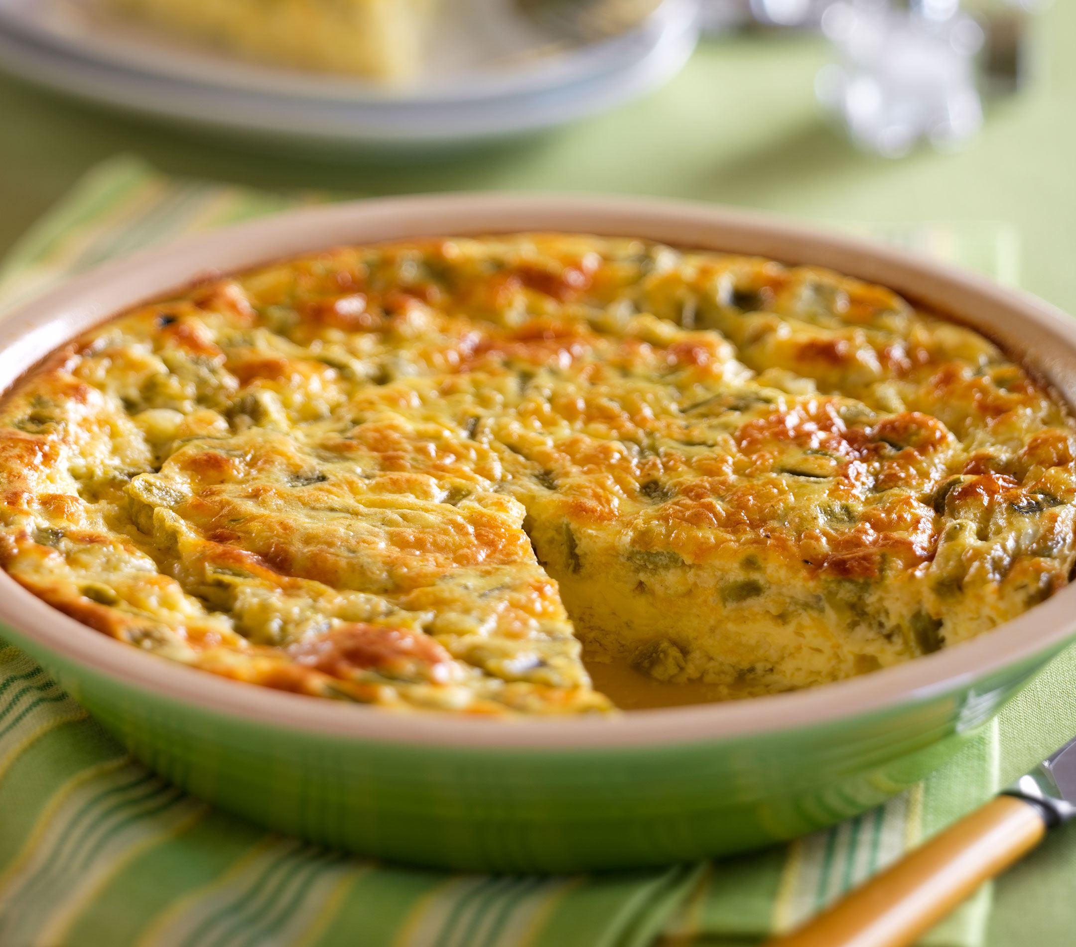 Green Chili Crustless Quiche