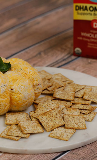 Festive Pumpkin Cheese Ball