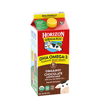 Organic Low Fat Chocolate Milk with DHA Omega-3