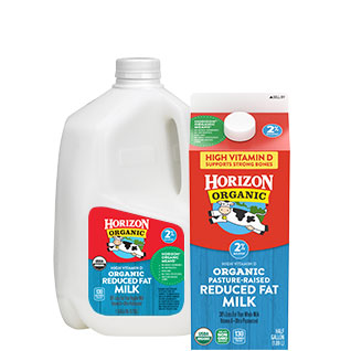 Organic reduced fat milk