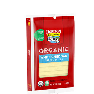Organic cheddar slices