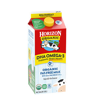 Organic Fat-Free Milk with DHA Omega-3