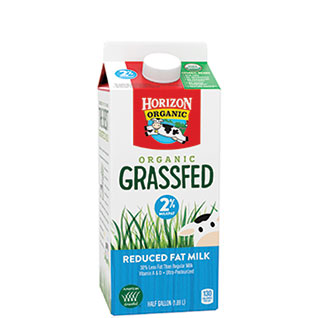 Organic grassfed reduced fat milk
