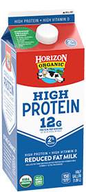 Organic High Protein Reduced Fat Milk