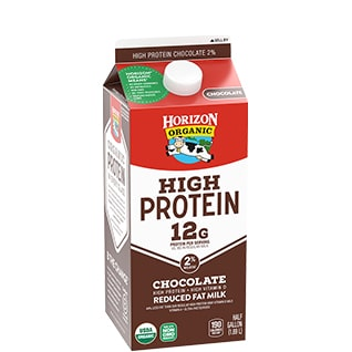 Organic High Protein Reduced Fat Chocolate Milk