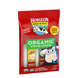 Organic mozzarella string cheese