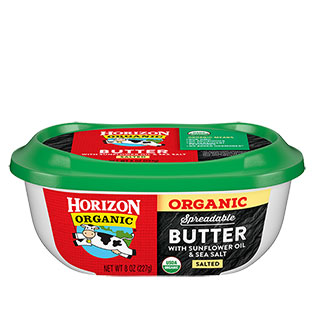 Organic spreadable butter