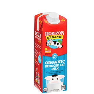 Organic shelf-stable reduced fat milk