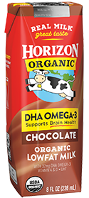 Organic Low Fat Chocolate Milk Box with DHA Omega-3