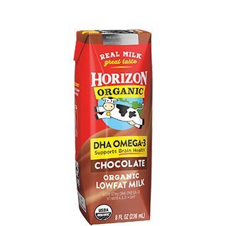 Horizon Organic Shelf Stable DHA Chocolate 1% Milk