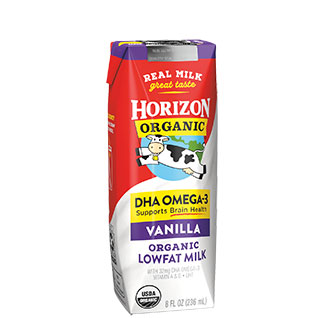 Horizon Organic Shelf Stable DHA Vanilla 1% Milk