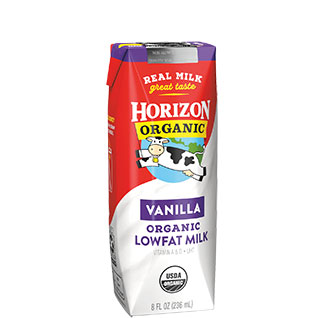 Organic Low Fat Vanilla Milk Box