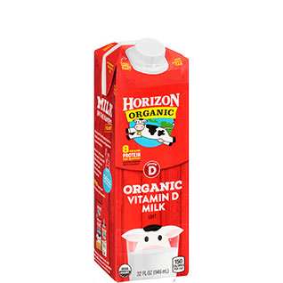 Organic shelf-stable whole milk