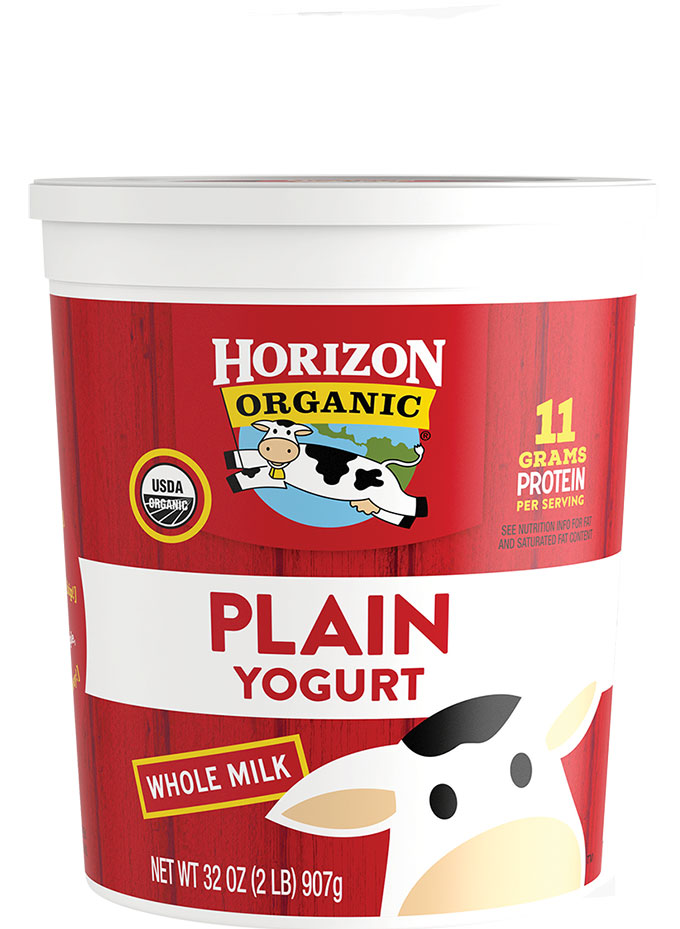 Horizon Organic Whole Milk Plain Yogurt Tub